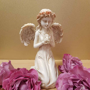 Serenity Angel with Dove (assorted approx 21cm)