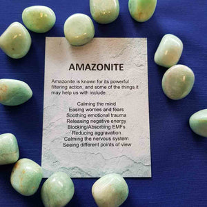 Amazonite Crystal Card (assorted backgrounds)