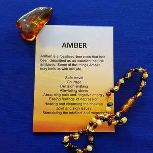 Amber Crystal Card (assorted backgrounds)