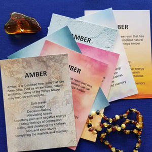 Amber Crystal Card (assorted backgrounds) stones not included