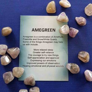 Amegreen Crystal Card (assorted backgrounds)