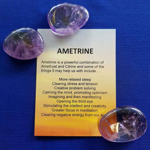 Ametrine Crystal Card (assorted backgrounds)