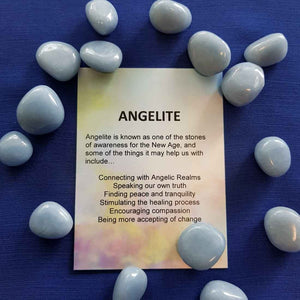 Angelite Crystal Card (assorted backgrounds)