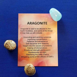 Aragonite Crystal Card (assorted backgrounds)