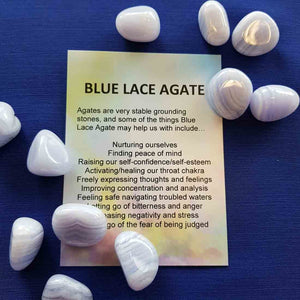 Blue Lace Agate Crystal Card (assorted backgrounds)