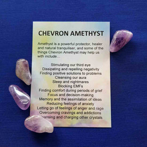 Chevron Amethyst Crystal Card (assorted backgrounds)