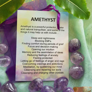 Amethyst Crystal Card (assorted backgrounds)