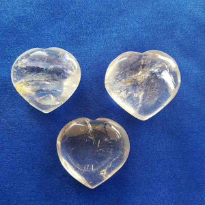 Clear Quartz Heart (assorted approx 4x4cm0