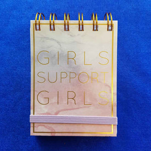 Girls Support Girls Spiral Bound Notepad (approx 7.5x11cm 75 lined sheets)