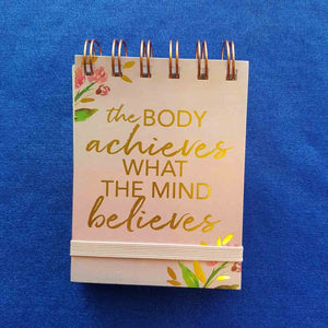 The Body Achieves Spiral Bound Notepad (approx 7.5x11cm 75 lined sheets)