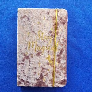 Purple Velvet Stay Magical Mini Journal (15x9.5cm 60 lined sheets)