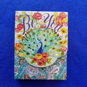 Be You Peacock Notepad (approx 10x7.5cm)