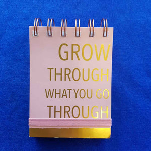 Grow Through What You Go Through Spiral Bound Notepad (approx 7.5x11cm 75 lined sheets)