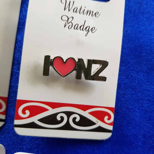 I Love NZ Pin