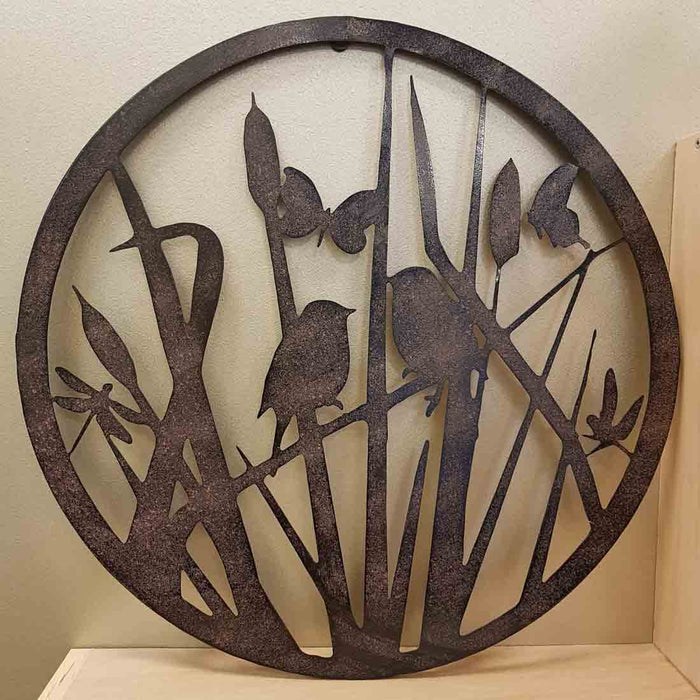 Birds & Butterflies & Dragonflies Metal Wall Art (approx 49x49cm)
