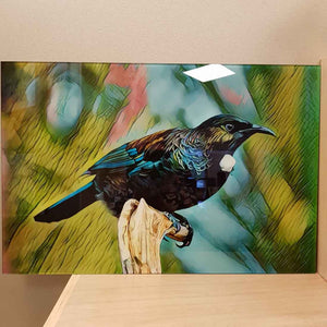 Tui on Glass (approx 40x60cm)