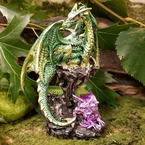 Green Dragon & Baby (approx. 15x10x7cm)