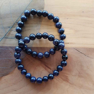 Blue Sandstone Ball Bracelet (man-made)