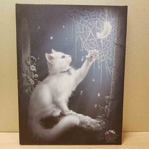 Snow Kitten Canvas (approx. 25 x 19cm)