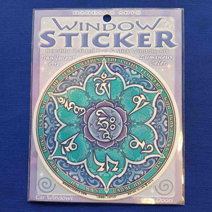 Jewel Lotus Window Sticker