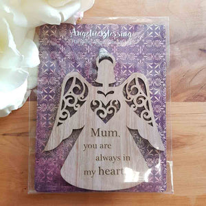 Mum You Are Always in My Heart Hanging Ornament (10x9cm)
