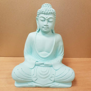 Buddha Statue (matte mint green approx. 20cm high)