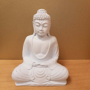 Buddha Statue (matte white approx. 20cm high)