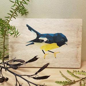 Tomtit on Wood (approx. 29.5x20cm)