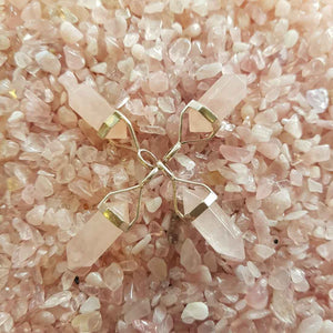 Rose Quartz Point Pendant (sterling silver small assorted)