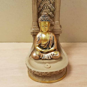 Gold look Buddha Incense Holder (approx. 27x7x7cm)