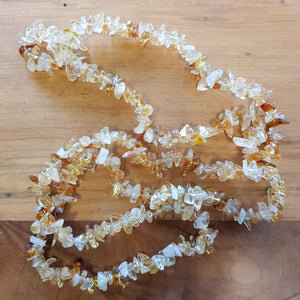 Citrine (heat treated) Chip Necklace (approx. 85cm)