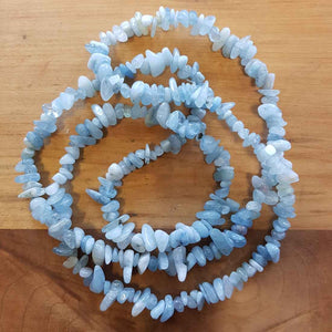 Aquamarine Chip Necklace (approx. 85cm)