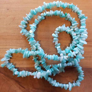 Amazonite Chip Necklace (approx. 85cm)