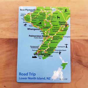 New Zealand Lower North Island Road Trip Magnet (approx. 13x9cm)