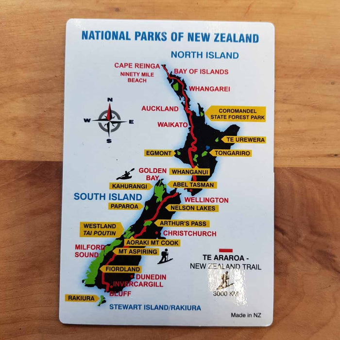 National Parks of New Zealand Magnet (approx. 13x9cm)
