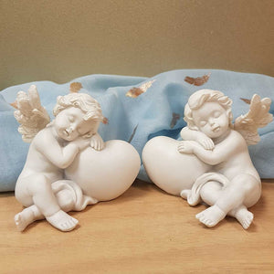 Cherub Angel on Heart (2 assorted approx. 9.5x11x9cm)
