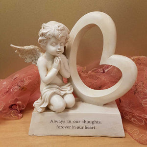 Always in our Thoughts Forever in our Hearts Memorial (approx 20x19cm)