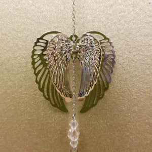 Angel Wings Hanging Suncatcher (3 assorted silver metal approx. 30cm)