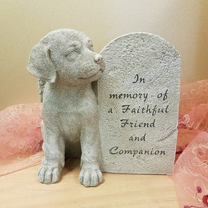 In Memory of a Faithful Friend & Companion Dog (approx 20.5x22cm)