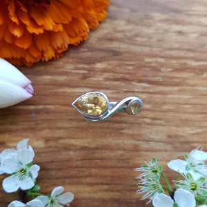 Citrine Ring (sterling silver)