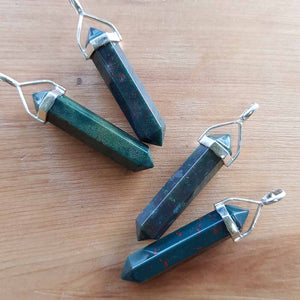 Bloodstone Point Pendant (sterling silver)