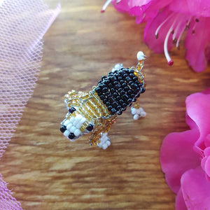 Beaded Beagle Handcrafted by Freya (approx. 4x3cm)
