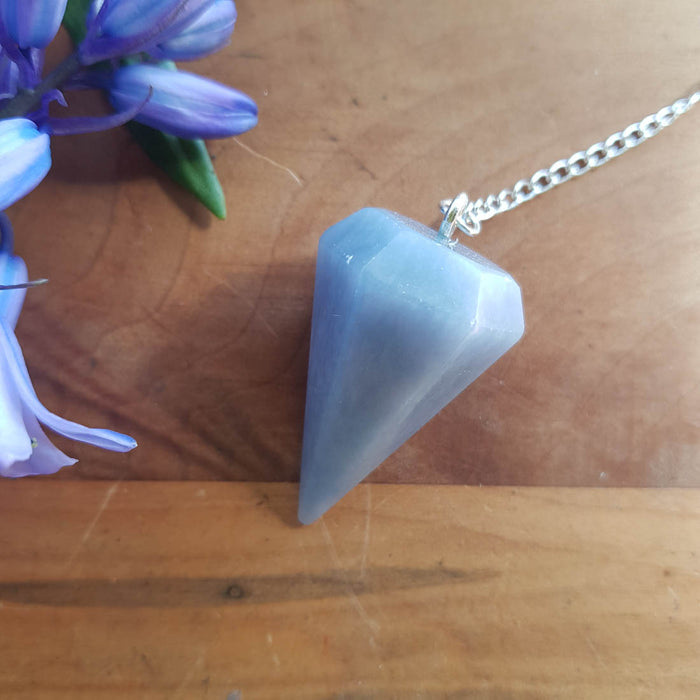 Angelite Faceted Point Pendulum (assorted)
