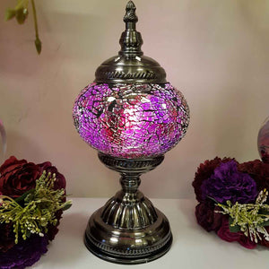 Pink Tones Turkish Style Mosaic Lamp (approx. 28.5cm)