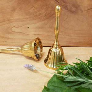 Scalloped Altar Bell (brass approx. 10.5x4.5cm)