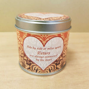 Sisters Soy Candle in a Tin (approx. 7.5x7cm & 35 hours burn time)