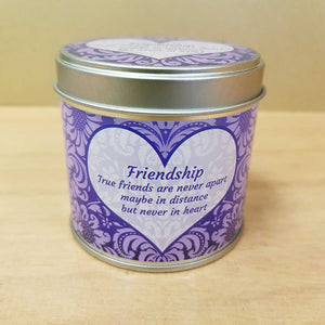 Friendship Soy Candle in a Tin (approx. 7.5x7cm & 35 hours burn time)