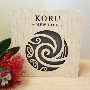 Koru New Life LED Block (approx. 15x15x4cm)
