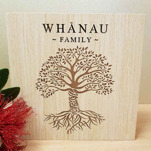 Whanau Family LED Block (approx. 15x15x4cm)