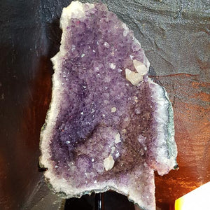 Amethyst Geode on Black Metal Stand